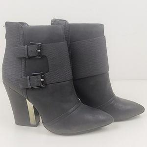 Metaphor black booties with buckles size 7